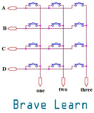 Matrix Keypad 4x3