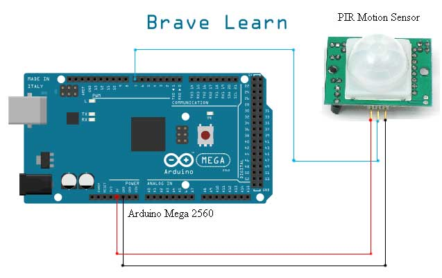 Arduino Interfacing with PIR Motion Sensor