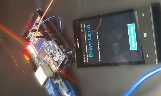 Monitor Room Temperature on Windows Phone App using Arduino